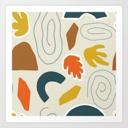Modern Art Autumn MATP2 Art Print