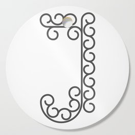 "Letter ""J"" in beautiful design Fashion Modern Style Cutting Board"