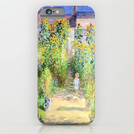 Monets Garden at Vetheuil iPhone Case