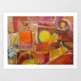 Abstract Yellow and Red Art Print