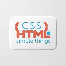 HTML/CSS/JS Bath Mat