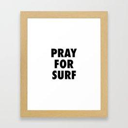 Pray for surf Framed Art Print