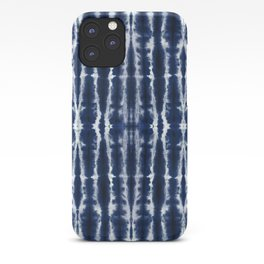 Palm Tiki Shibori Indigo iPhone Case