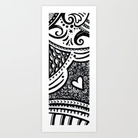 zentangle Art Prints featuring Zentangle by Wealie