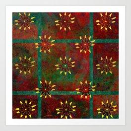 Paracas Pop 3 Art Print
