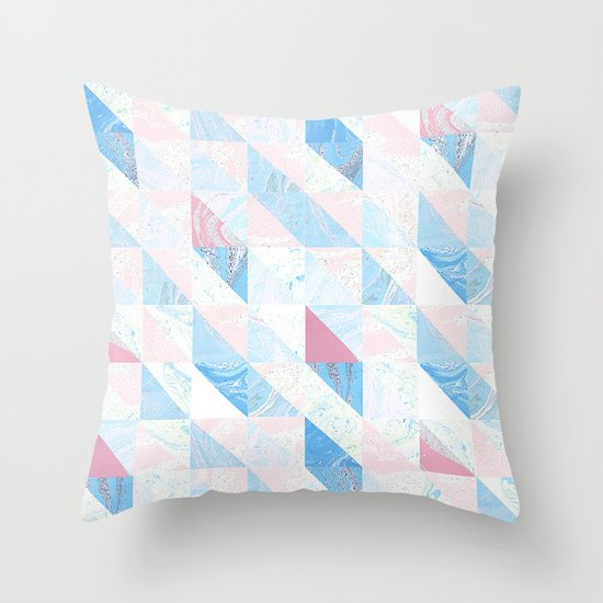 Geometric shapes Throw Pillow by Inkberryprint Society6