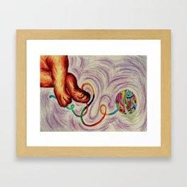 Yarn of fun Framed Art Print