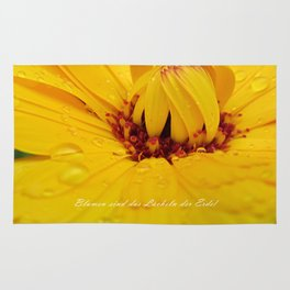Flowers are the smiles of the earth Rug