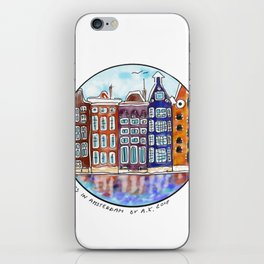 Houses in Amsterdam iPhone Skin