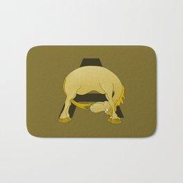 Pony Monogram Letter A Bath Mat