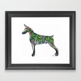 Doberman Vine Framed Art Print