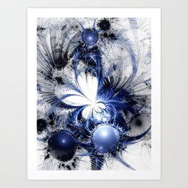 Blizzard - Abstract Fractal Artwork Art Print