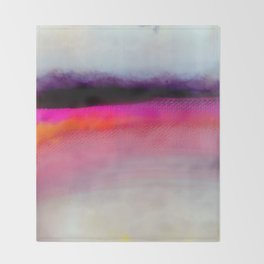 Pink Silver Throw Blanket