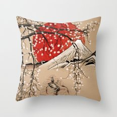 Japan Fishermen Throw Pillow