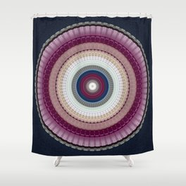 Decorative Wine Dark Blue Mandala Shower Curtain