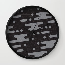 Sweet Clouds Over Flying Machines Wall Clock