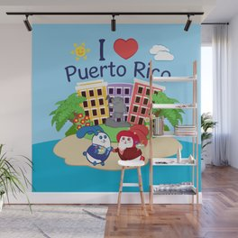 Ernest & Coraline | I love Puerto Rico Wall Mural
