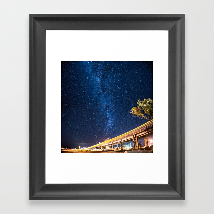 Milky Way Bridge Framed Art Print