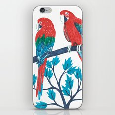 Red Parrots iPhone & iPod Skin