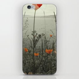 Poppies Shifted iPhone Skin