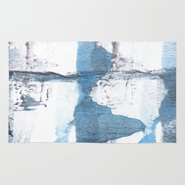 Blue hand-drawn watercolor Rug