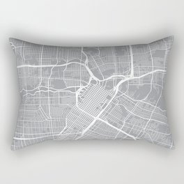 Houston Map, Texas USA - Pewter Rectangular Pillow