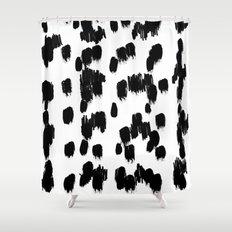 Snow Cheetah Shower Curtain
