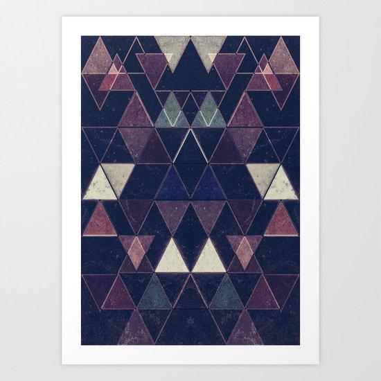 Triangles XXVI Art Print