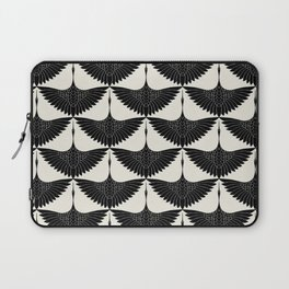 CRANE DESIGN - pattern - Black and White Laptop Sleeve