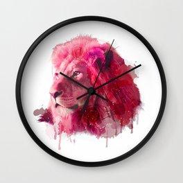 Rose Lion Wall Clock