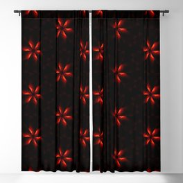 Small Red Flowers Blackout Curtain
