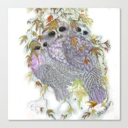 Owl Hugs Canvas Print