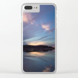 Just before the night arrives Clear iPhone Case