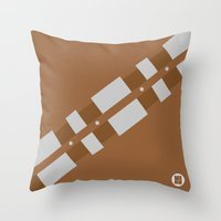 chewbacca Throw Pillows featuring Chewbacca by VineDesign