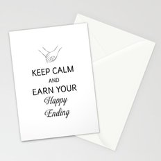 Earn Your Happy Ending [Black] Stationery Cards