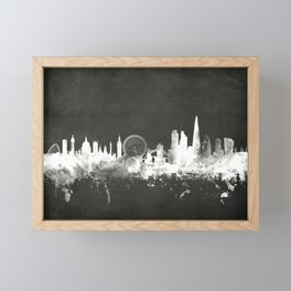 London England Skyline Framed Mini Art Print