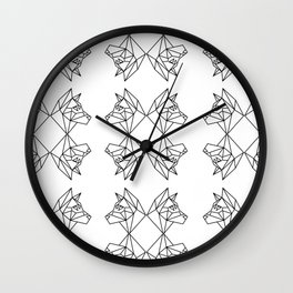 Geometric Shiba Inu Wall Clock