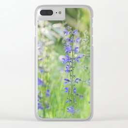 meadow sage Clear iPhone Case