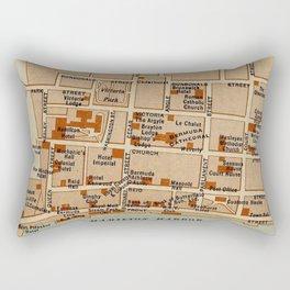 Vintage Map of Hamilton Bermuda (1922) Rectangular Pillow