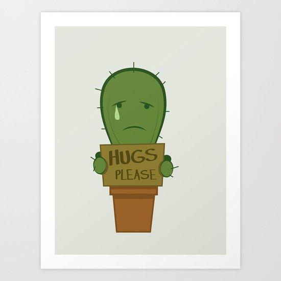 Hugs Please Art Print