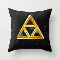 The Tri[llusion] Force Throw Pillow