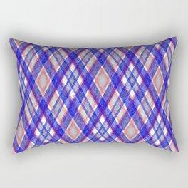 Blue, pink tartan plaid. Rectangular Pillow