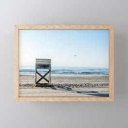 While the Lifeguards Away Framed Mini Art Print