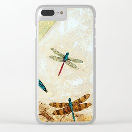 Zen Flight - Dragonfly Art By Sharon Cummings Clear iPhone Case