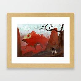 Earth Bull Framed Art Print