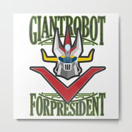 manga robots: great mazinger for president Metal Print