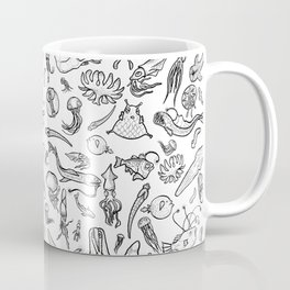 Deep sea Creatures- Black/white Coffee Mug