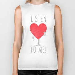 Listen to your heart Biker Tank
