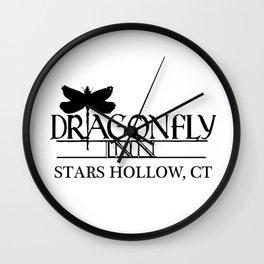 Dragonfly Inn Stars Hallow Wall Clock