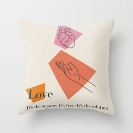 Love: Sixties Throw Pillow